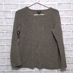 Roots Lambs Wool Scoop Neck Brown Speckled Sweater